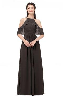 ColsBM Andi Java Bridesmaid Dresses Zipper Off The Shoulder Elegant Floor Length Sash A-line
