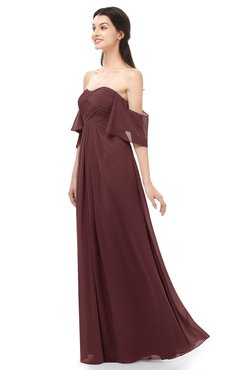 ColsBM Arden Burgundy Bridesmaid Dresses Ruching Floor Length A-line Off The Shoulder Backless Cute