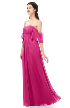 ColsBM Arden Cabaret Bridesmaid Dresses Ruching Floor Length A-line Off The Shoulder Backless Cute
