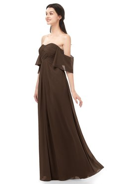 ColsBM Arden Copper Bridesmaid Dresses Ruching Floor Length A-line Off The Shoulder Backless Cute
