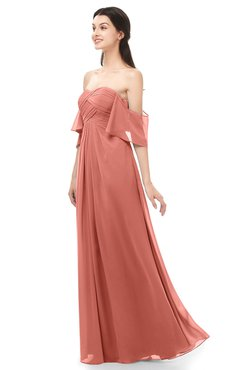 ColsBM Arden Crabapple Bridesmaid Dresses Ruching Floor Length A-line Off The Shoulder Backless Cute