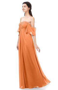 ColsBM Arden Mango Bridesmaid Dresses Ruching Floor Length A-line Off The Shoulder Backless Cute