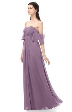 ColsBM Arden Mauve Bridesmaid Dresses Ruching Floor Length A-line Off The Shoulder Backless Cute