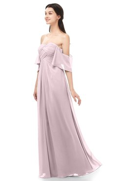 ColsBM Arden Pale Lilac Bridesmaid Dresses Ruching Floor Length A-line Off The Shoulder Backless Cute