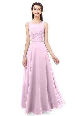 283f2e484c ColsBM Indigo Baby Pink Bridesmaid Dresses Sleeveless Bateau Lace Simple Floor  Length Half Backless