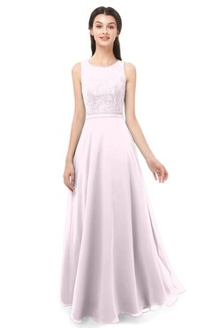 ColsBM Indigo Blush Bridesmaid Dresses Sleeveless Bateau Lace Simple Floor Length Half Backless