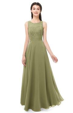 ColsBM Indigo Cedar Bridesmaid Dresses Sleeveless Bateau Lace Simple Floor Length Half Backless