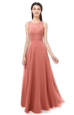 ColsBM Indigo Crabapple Bridesmaid Dresses Sleeveless Bateau Lace Simple Floor Length Half Backless