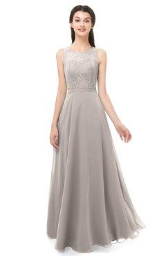 ColsBM Indigo Fawn Bridesmaid Dresses Sleeveless Bateau Lace Simple Floor Length Half Backless