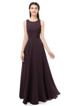 ColsBM Indigo Italian Plum Bridesmaid Dresses Sleeveless Bateau Lace Simple Floor Length Half Backless