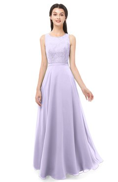 988d5ccb7e4 ColsBM Indigo Light Purple Bridesmaid Dresses Sleeveless Bateau Lace Simple  Floor Length Half Backless