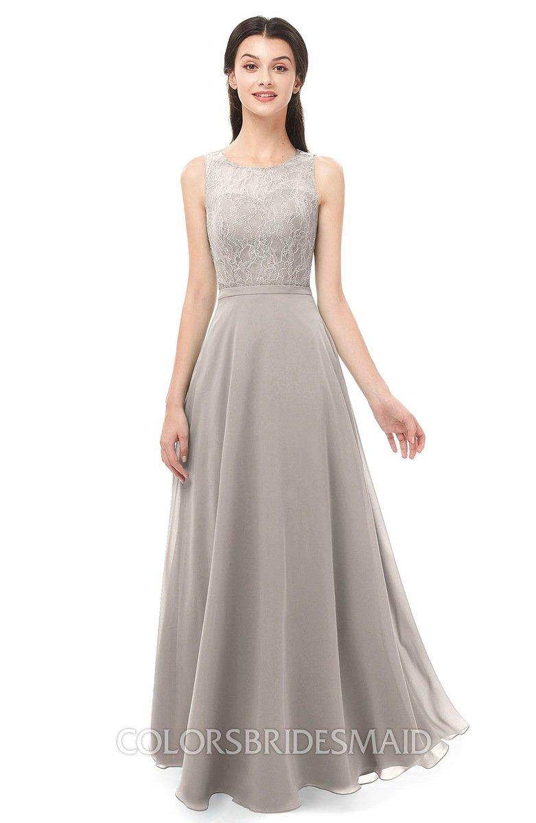 2cbde03e0c5a ColsBM Indigo Mushroom Bridesmaid Dresses Sleeveless Bateau Lace Simple  Floor Length Half Backless