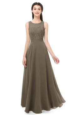 ColsBM Indigo Otter Bridesmaid Dresses Sleeveless Bateau Lace Simple Floor Length Half Backless