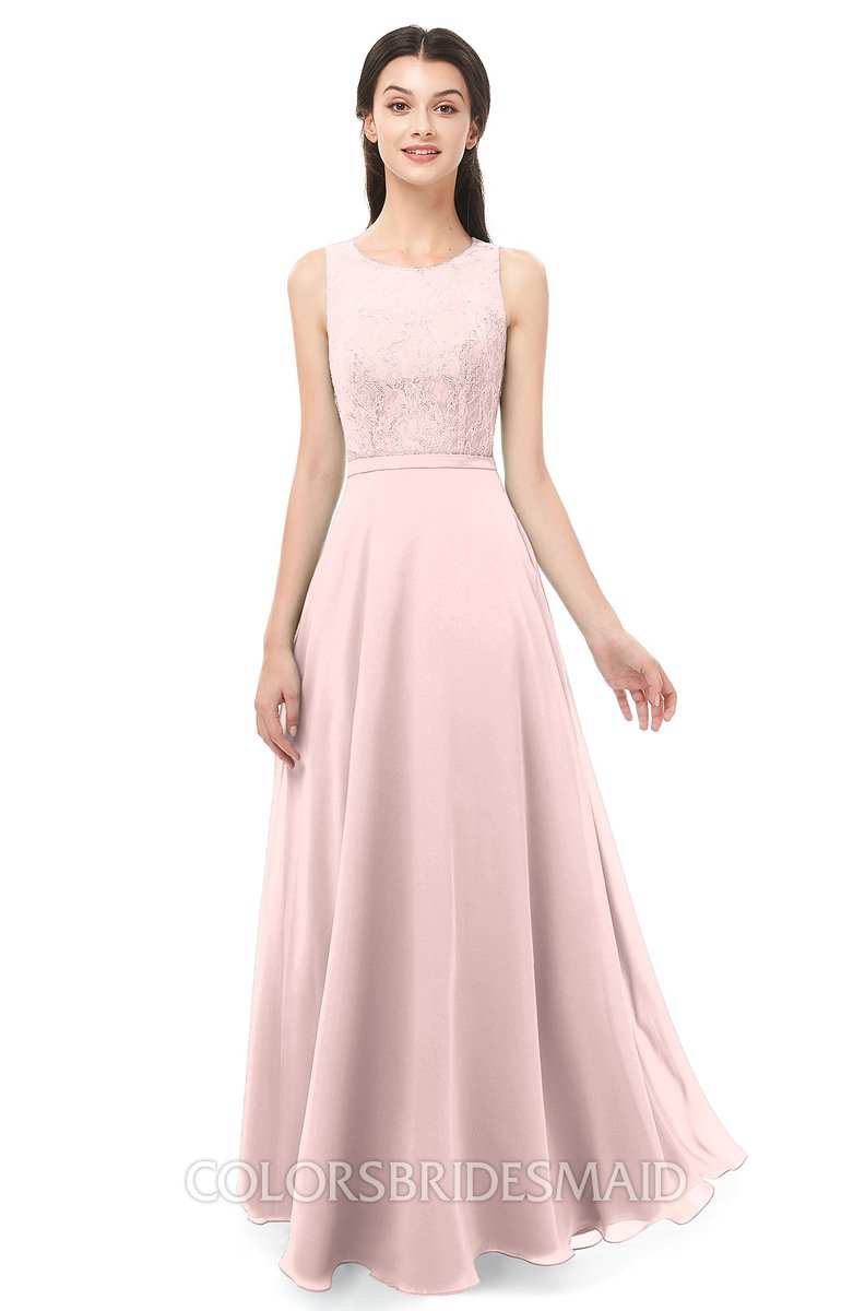 Colsbm Indigo Pastel Pink Bridesmaid Dresses Colorsbridesmaid
