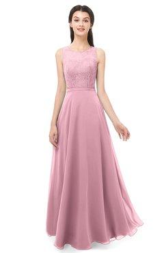 ColsBM Indigo Rosebloom Bridesmaid Dresses Sleeveless Bateau Lace Simple Floor Length Half Backless