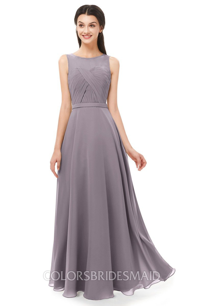 62a4610246e ColsBM Emery Cameo Bridesmaid Dresses Bateau A-line Floor Length Simple Zip  up Sash