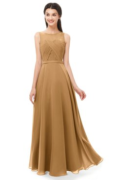 ColsBM Emery Doe Bridesmaid Dresses Bateau A-line Floor Length Simple Zip up Sash