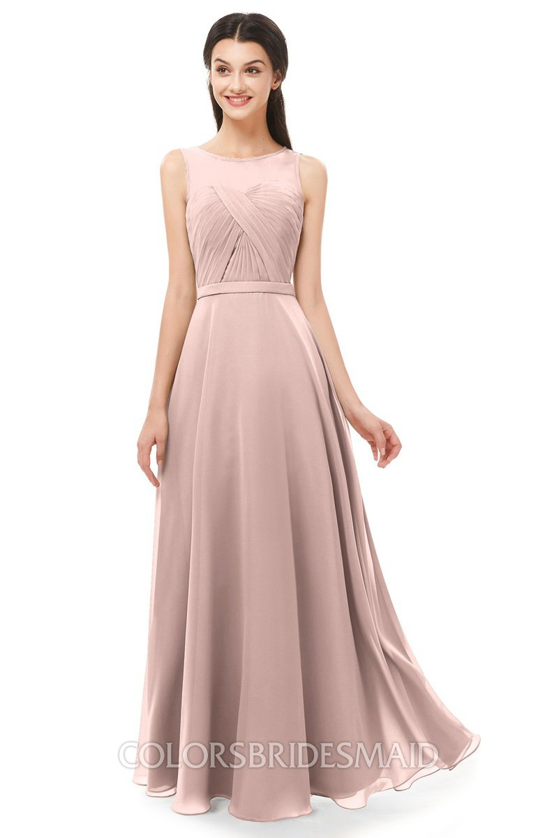 b9d7adfdc03e ColsBM Emery Dusty Rose Bridesmaid Dresses Bateau A-line Floor Length  Simple Zip up Sash