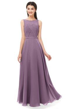 d6fd4976894 ColsBM Emery Mauve Bridesmaid Dresses Bateau A-line Floor Length Simple Zip  up Sash