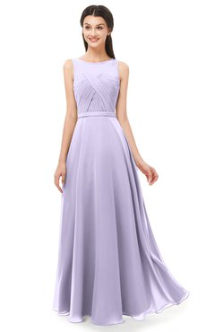 f1c1d8cffcc26 ColsBM Emery Pastel Lilac Bridesmaid Dresses Bateau A-line Floor Length  Simple Zip up Sash