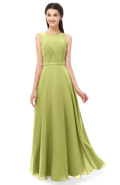 ColsBM Emery Pistachio Bridesmaid Dresses Bateau A-line Floor Length Simple Zip up Sash