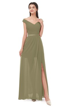 ColsBM Ariel Boa Bridesmaid Dresses A-line Short Sleeve Off The Shoulder Sash Sexy Floor Length
