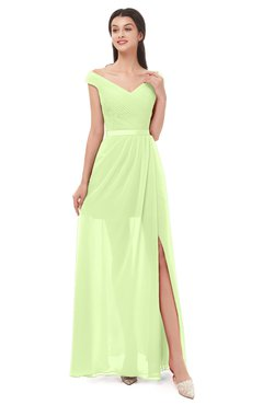 ColsBM Ariel Butterfly Bridesmaid Dresses A-line Short Sleeve Off The Shoulder Sash Sexy Floor Length