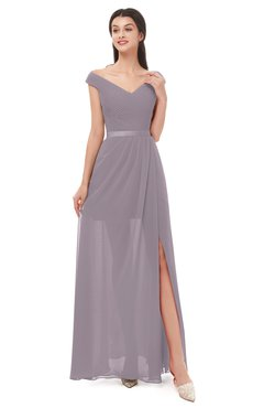 ColsBM Ariel Cameo Bridesmaid Dresses A-line Short Sleeve Off The Shoulder Sash Sexy Floor Length