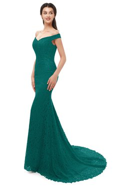 ColsBM Reese Parasailing Bridesmaid Dresses Zip up Mermaid Sexy Off The Shoulder Lace Chapel Train
