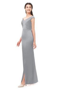 ColsBM Maryam Ash Bridesmaid Dresses Mature Sheath Off The Shoulder Floor Length Half Backless Split-Front