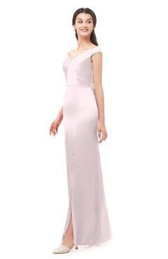 ColsBM Maryam Blush Bridesmaid Dresses Mature Sheath Off The Shoulder Floor Length Half Backless Split-Front