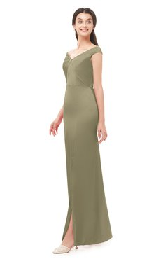 ColsBM Maryam Cornstalk Bridesmaid Dresses Mature Sheath Off The Shoulder Floor Length Half Backless Split-Front