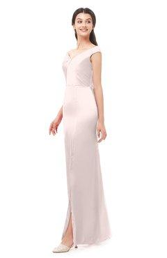 ColsBM Maryam Creole Pink Bridesmaid Dresses Mature Sheath Off The Shoulder Floor Length Half Backless Split-Front