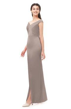 ColsBM Maryam Etherea Bridesmaid Dresses Mature Sheath Off The Shoulder Floor Length Half Backless Split-Front