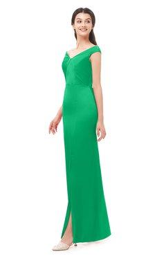 ColsBM Maryam Mint Bridesmaid Dresses Mature Sheath Off The Shoulder Floor Length Half Backless Split-Front