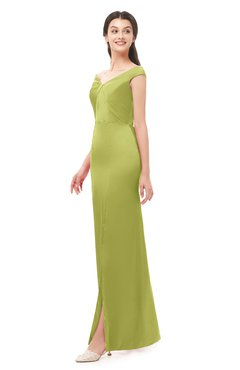 ColsBM Maryam Palm Bridesmaid Dresses Mature Sheath Off The Shoulder Floor Length Half Backless Split-Front