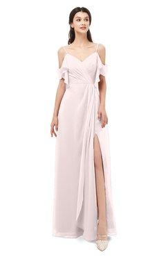 ColsBM Blair Angel Wing Bridesmaid Dresses Spaghetti Zipper Simple A-line Ruching Short Sleeve