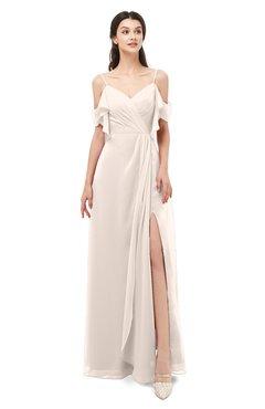 ColsBM Blair Cream Pink Bridesmaid Dresses Spaghetti Zipper Simple A-line Ruching Short Sleeve