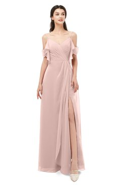 ColsBM Blair Dusty Rose Bridesmaid Dresses Spaghetti Zipper Simple A-line Ruching Short Sleeve