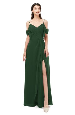 ColsBM Blair Hunter Green Bridesmaid Dresses Spaghetti Zipper Simple A-line Ruching Short Sleeve