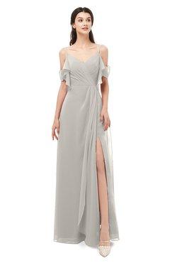 ColsBM Blair Hushed Violet Bridesmaid Dresses Spaghetti Zipper Simple A-line Ruching Short Sleeve
