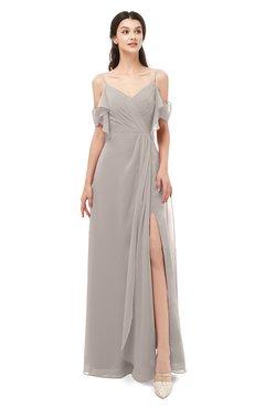 ColsBM Blair Mushroom Bridesmaid Dresses Spaghetti Zipper Simple A-line Ruching Short Sleeve