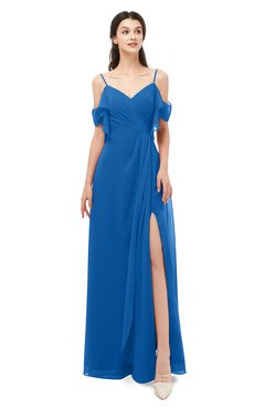 ColsBM Blair Royal Blue Bridesmaid Dresses Spaghetti Zipper Simple A-line Ruching Short Sleeve