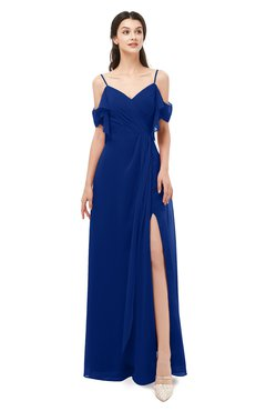 ColsBM Blair Sodalite Blue Bridesmaid Dresses Spaghetti Zipper Simple A-line Ruching Short Sleeve