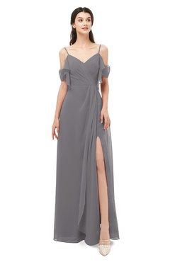 ColsBM Blair Storm Front Bridesmaid Dresses Spaghetti Zipper Simple A-line Ruching Short Sleeve