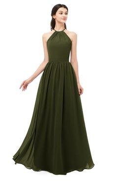 ColsBM Irene Beech Bridesmaid Dresses Sleeveless Halter Criss-cross Straps Sexy A-line Sash
