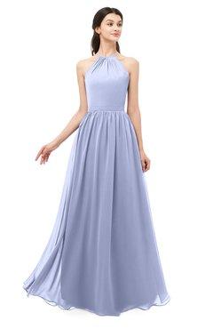 ColsBM Irene Blue Heron Bridesmaid Dresses Sleeveless Halter Criss-cross Straps Sexy A-line Sash