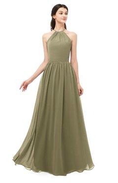 ColsBM Irene Boa Bridesmaid Dresses Sleeveless Halter Criss-cross Straps Sexy A-line Sash
