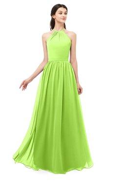 ColsBM Irene Bright Green Bridesmaid Dresses Sleeveless Halter Criss-cross Straps Sexy A-line Sash