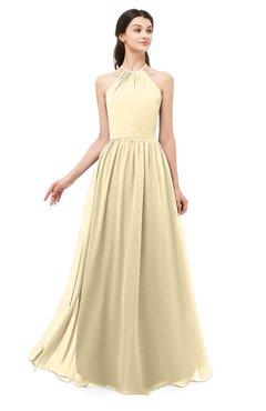 ColsBM Irene Cornhusk Bridesmaid Dresses Sleeveless Halter Criss-cross Straps Sexy A-line Sash